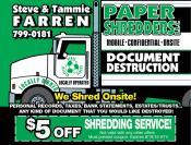 Coupon Offer: $5.00 Off Shredding Service!
